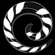 White Zebra Flame Buffalo Spiral