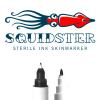 Squidster Piercing Disposable Sterile Skin Markers 2in1 Black Pinze, strumenti e aghi