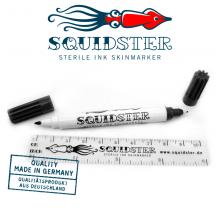 Squidster Piercing Disposable Sterile Skin Markers 2in1 Black