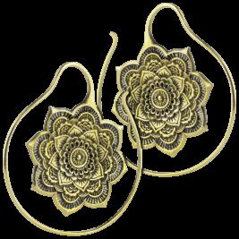 Brass Earrings - Spiral